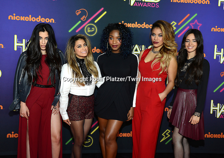 Fifth Harmony attends the 6th Annual Nickelodeon Halo Awards on November 15, 2014 at Pier 36 in New York City. <br /> <br /> photo by Robin Platzer/Twin Images<br />  <br /> phone number 212-935-0770