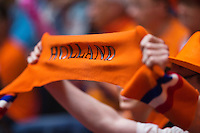 Netherlands, Den Bosch, April 18 2015 Maaspoort, Fedcup Netherlands-Australia,  Dutch fan<br /> Photo: Tennisimages/Henk Koster