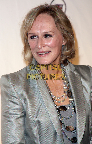 "GLENN CLOSE.Season 3 Premiere of ""Damages"" held at the AXA Equitable Center, New York, NY, USA..January 19th, 2010.headshot portrait grey gray silver beads necklaces jacket.CAP/ADM/PZ.©Paul Zimmerman/AdMedia/Capital Pictures."