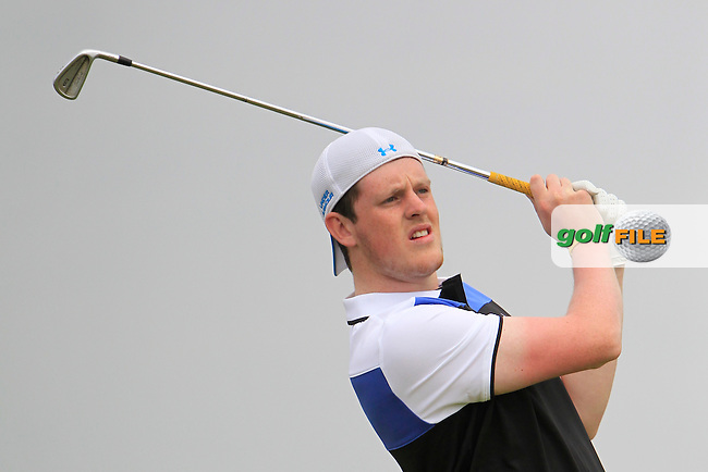 Matthew McClean (Balmoral) on the 15th tee during Round 2 of the East of Ireland in the Co. Louth Golf Club at Baltray on Sunday 1st June 2014.<br /> Picture:  Thos Caffrey / www.golffile.ie