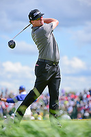 Charley Hoffman (USA) watches his tee shot on 7 during Sunday's round 4 of the 117th U.S. Open, at Erin Hills, Erin, Wisconsin. 6/18/2017.<br /> Picture: Golffile | Ken Murray<br /> <br /> <br /> All photo usage must carry mandatory copyright credit (&copy; Golffile | Ken Murray)