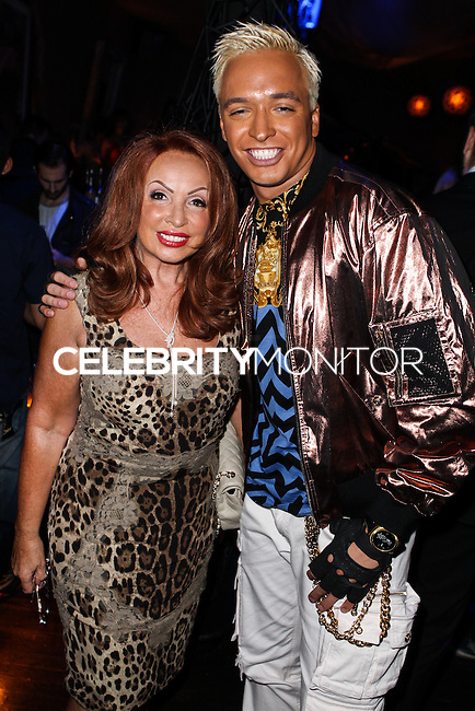 "LOS ANGELES, CA - JUNE 14: Tina Trozzo and Kuba Ka attend Polish popstar Kuba Ka performance for his single ""Stop Feenin'"" at Hyde Nightclub on June 14, 2013 in Los Angeles, California. (Photo by Celebrity Monitor)"