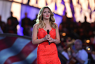 Washington, DC - May 28, 2016: Actress and singer Katherine McPhee performs 'America the Beautiful  at the National Memorial day concert dress rehearsal on the west lawn of the U.S. Capitol in the District of Columbia, May 28, 2016.  (Photo by Don Baxter/Media Images International)