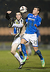 St Mirren v St Johnstone...25.03.14    SPFL<br /> Sean Kelly and Michael O'Halloran<br /> Picture by Graeme Hart.<br /> Copyright Perthshire Picture Agency<br /> Tel: 01738 623350  Mobile: 07990 594431