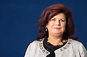Elaine C Smith,Scottish actress from TV series Rab C Nesbitt who has written her memoirs Nothing Like A Dame   at The Edinburgh International  Book Festival 2010 .CREDIT Geraint Lewis
