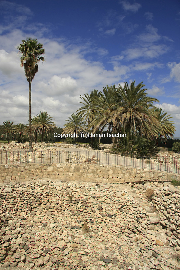 Israel, Jezreel valley. Grain Silo of the Period of Jeroboam the king of Israel in Tel Megiddo, a World Heritage Site