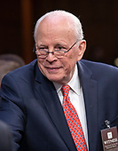John Dean, former Counsel to the United States President Richard M. Nixon, arrives to testify against the nomination of Judge Brett Kavanaugh before the US Senate Judiciary Committee on his nomination as Associate Justice of the US Supreme Court to replace the retiring Justice Anthony Kennedy on Capitol Hill in Washington, DC on Friday, September 7, 2018.<br /> Credit: Ron Sachs / CNP