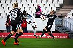 16.03.2019, Stadion Essen, Essen, GER, AFBL, SGS Essen vs TSG 1899 Hoffenheim, DFL REGULATIONS PROHIBIT ANY USE OF PHOTOGRAPHS AS IMAGE SEQUENCES AND/OR QUASI-VIDEO<br /> <br /> im Bild | picture shows:<br /> Torschuss Nicole Anyomi (SGS Essen #17), <br /> <br /> Foto &copy; nordphoto / Rauch
