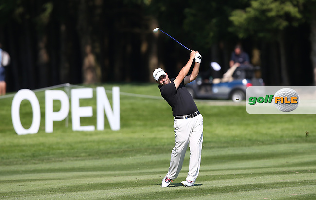 Jason Barnes (ENG) playing down the 18th during Round Two of the 2015 BMW International Open at Golfclub Munchen Eichenried, Eichenried, Munich, Germany. 26/06/2015. Picture David Lloyd   www.golffile.ie