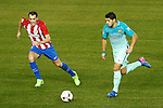 Atletico de Madrid's Diego Godin (l) and FC Barcelona's Luis Suarez during Spanish Kings Cup semifinal 1st leg match. February 01,2017. (ALTERPHOTOS/Acero)