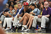Washington, DC - June 1, 2019: Wizards Bradley Beal and Wizards owner Ted Leonsis on the sideline during game between Atlanta Dream and Washington Mystics at the St. Elizabeths East Entertainment and Sports Arena (Photo by Phil Peters/Media Images International)