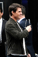 June 12, 2012:  Tom Cruise on the set of the film, Oblivion in New York City. © RW/MediaPunch Inc. NORTEPHOTO.COM<br />