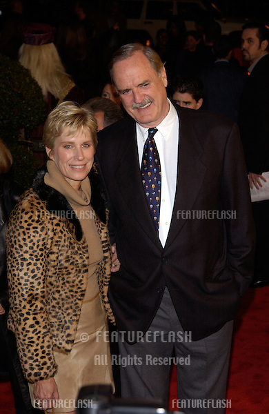 Actor JOHN CLEESE & wife at the Los Angeles premiere of Harry Potter and the Sorcerer's Stone..14NOV2001.  © Paul Smith/Featureflash