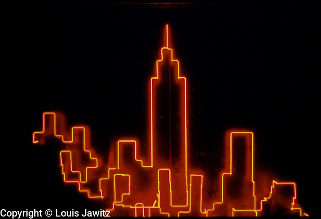 NEON, new york city, Horizontal, Glowing, Red, NEON NYC,