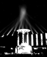 Fountain and lights at night, 1933 Chicago World's Fair.(Photographer Unknown/www.bcpix.com)