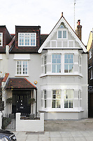 The exterior of an Edwardian town house in South West London