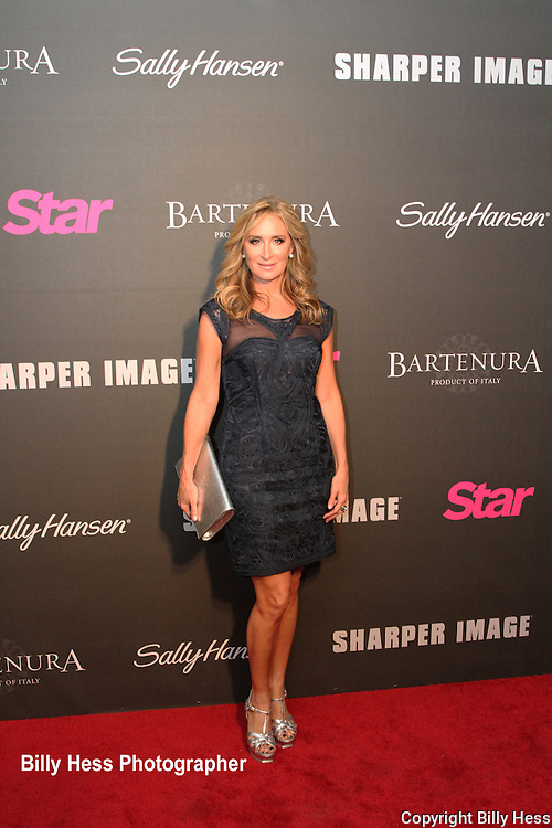 Sonja Morgan New Jersey housewives at Star Magazine Scene Stealers red carpet event NYC