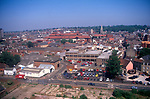 View from Wet Dock roof to CBD town centre, Ipswich, Suffolk, England, UK 1990s