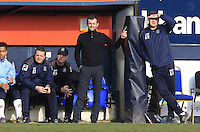 Luton Town manager Nathan Jones watches on from the side line during the Sky Bet League 2 match between Luton Town and Crawley Town at Kenilworth Road, Luton, England on 12 March 2016. Photo by Liam Smith.