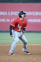 Seth Spivey (6) of the High Desert Mavericks runs the bases during a game against the Lake Elsinore Storm at The Diamond on April 27, 2016 in Lake Elsinore, California. High Desert defeated Lake Elsinore, 10-2. (Larry Goren/Four Seam Images)
