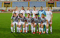 20180228 - LARNACA , CYPRUS : Spanish team pictured with Jennifer Hermoso Fuentes (10) , Alexia Putellas Segura (11) , Marta Corredera Rueda (7) , Patricia Guijarro Guiterrez (12) , Virginia Torrecilla Reyes (6) , Eunate Arraiza Otazu (22) , Andrea Pereira Cejudo (3) , Olga Garcia Perez (20) , Amanda Sampedro Bustos (19) , Dolores Gallardo Nunez (1) and Irene Paredes Hernandez (4) during a women's soccer game between Spain and Austria , on wednesday 28 February 2018 at GSZ Stadium in Larnaca , Cyprus . This is the first game in group B for Spain and Austria during the Cyprus Womens Cup , a prestigious women soccer tournament as a preparation on the World Cup 2019 qualification duels. PHOTO SPORTPIX.BE | DAVID CATRY