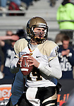 December 3, 2011:  Idaho quarterback Brian Reader throws in the first quarter against Nevada during a WAC league game played at Mackay Stadium in Reno, Nevada.
