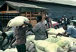 Loading and unloading flour,Images of the capital,Port au Prince, Haiti 1975