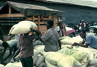 Loading and unloading flour,Images of the capital,Port au Prince, Haiti 1975