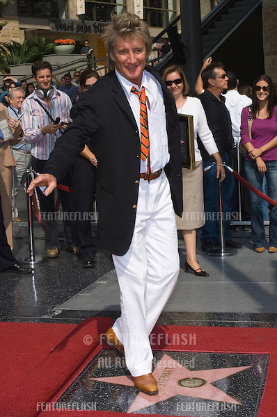 Pop star ROD STEWART on Hollywood Boulevard where he was honored with the 2,293rd star on the Hollywood Walk of Fame..October 11, 2005 Los Angeles, CA..© 2005 Paul Smith / Featureflash