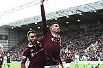 09.05.2018 Hearts v Hibs:  Kyle Lafferty celebrates his goal