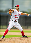 22 February 2019: Washington Nationals pitcher Matt Grace on the mound during a Spring Training workout at the Ballpark of the Palm Beaches in West Palm Beach, Florida. Mandatory Credit: Ed Wolfstein Photo *** RAW (NEF) Image File Available ***