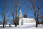 Town meetinghouse, Jaffrey Center, Monadnock Region, NH