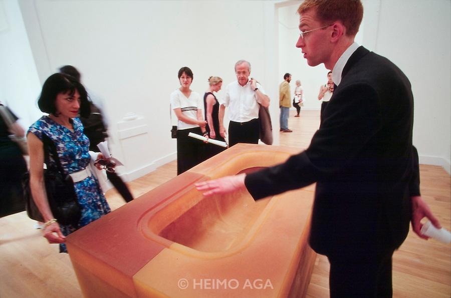 "VENICE, ITALY..June 1997..47th Biennale of Venice.British Pavillion..""Orange Bath"", 1997 by Rachel Whiteread..(Photo by Heimo Aga)"