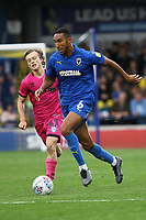 Terell Thomas of AFC Wimbledon and Luke Matheson of Rochdale AFC during AFC Wimbledon vs Rochdale, Sky Bet EFL League 1 Football at the Cherry Red Records Stadium on 5th October 2019