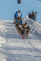 Ramey Smyth on Cordova St. hill during the Anchorage start day of Iditarod 2018 on Cordova St. hill during the Anchorage start day of Iditarod 2019