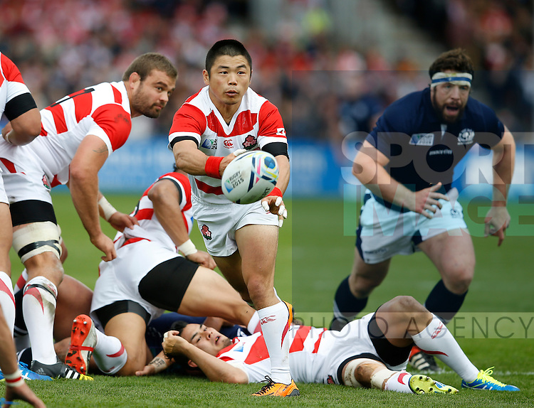 Fumiaka Tanaka of Japan - Rugby World Cup 2015 - Pool B - Scotland vs Japan - Kingsholm Stadium - Gloucester - England - 23rd September 2015 - Picture Simon Bellis/Sportimage