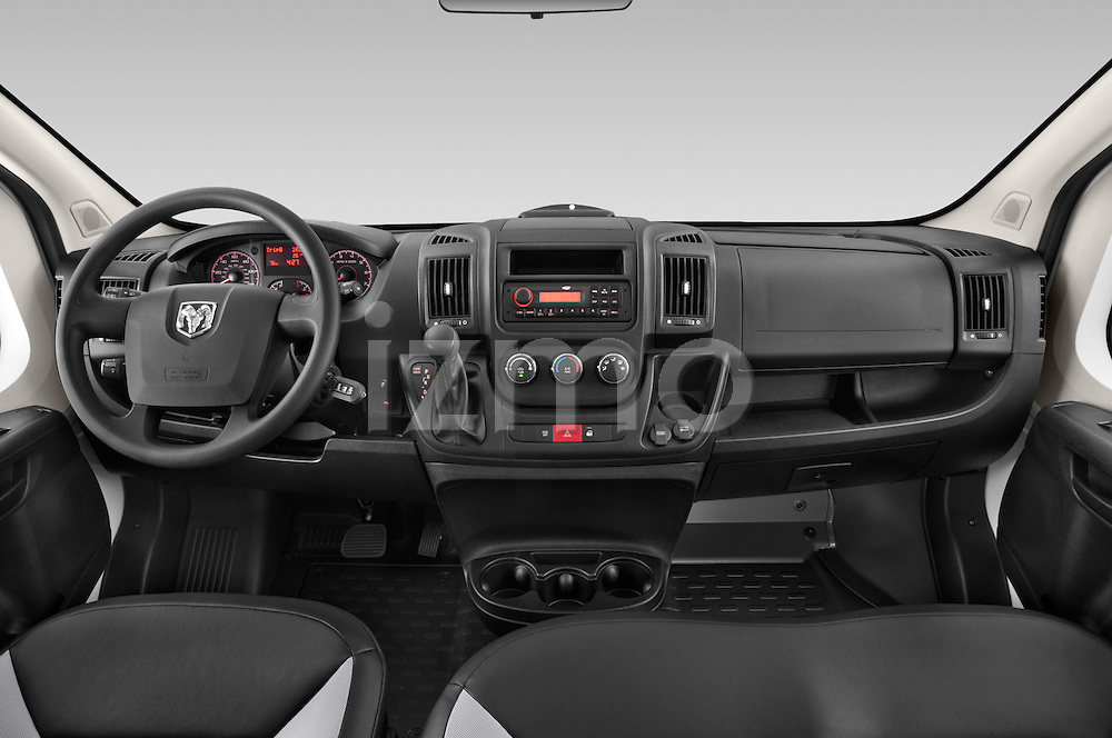 Stock photo of straight dashboard view of a 2015 Ram Promaster 1500 136 Wb Low Roof 4 Door Passenger Van 2WD Dashboard