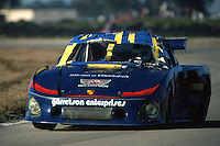 SEBRING, FL - MARCH 21: Bobby Rahal drives the Porsche 935 K3 009 00030 damaged by co-driver Bob Garretson in an early-race crash during the 12 Hours of Sebring at the Sebring International Raceway near Sebring, Florida, on March 21, 1981.