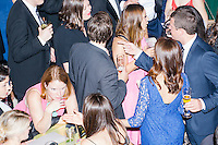 People gather at the MSNBC After Party at the United States Institute of Peace in Washington, DC. The party followed the annual White House Correspondents Association Dinner on Saturday, April 30, 2016. The party continued until about 3 AM on Sunday, May 1, 2016.