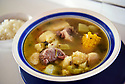Venecia Gonzalez of El Recoqueo D.R. serves food from the Dominican Republic like this Sancocho soup at the Westbank Nawlins Flea Market.