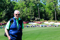 Golfing union of Ireland President Jim McGovern with the famous 13th green in the background during Wednesdays preview at the The Masters , Augusta National, Augusta, Georgia, USA. 10/04/2019.<br /> Picture Fran Caffrey / Golffile.ie<br /> <br /> All photo usage must carry mandatory copyright credit (&copy; Golffile | Fran Caffrey)