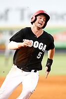 Chattanooga Lookouts infielder Chris Paul (5) rounds third base headed to home in the game against the Montgomery Biscuits on May 25, 2018 at AT&T Field in Chattanooga, Tennessee. (Andy Mitchell/Four Seam Images)