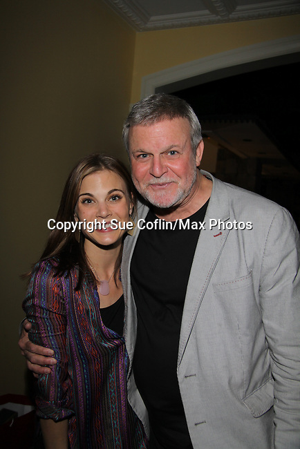 """Gina Tognoni Guidng Light """"Dinah Marler"""" & One Life To Live """"Kelly Cramer"""" poses with Ron Raines at the 10th Annual Daytime Stars and Strikes Charity Event to benefit the American Cancer Society on October 13, 2013 at Bowlmor Lanes, New York City, New York.  (Photo by Sue Coflin/Max Photos)"""