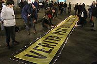 NAPOLI, ITALIA, 25.01.2019 - PROTESTO-ITALIA - Jovens realizam homenagem a Giulio Regeni estudante assassinado no Egito que hoje completou 3 anos de seu desaparecimento . Protesto acontece na cidade de Napoli na Italia nesta sexta-feira, 25. (Foto: Salvatori Esposito/Brazil Photo Press)
