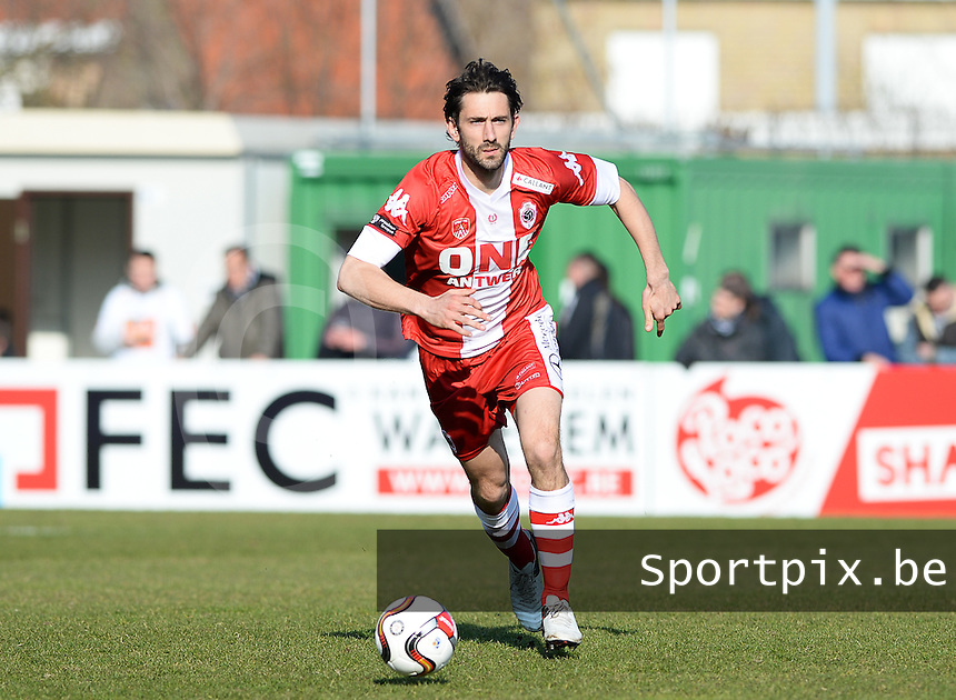 20160313 - ROESELARE, BELGIUM: Antwerp's Maxime Biset pictured during the Proximus League match between KSV Roeselare and Royal Antwerp Football Club - RAFC , in Roeselare on Sunday 13 March 2016 , on the 28th matchday of the Belgian second division soccer championship. PHOTO DAVID CATRY
