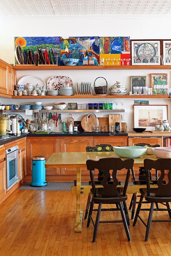 classic wooden kitchen