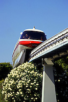 Skytrain at Disneyland, Los Angeles, California, USA