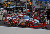 Apr 22, 2006; Phoenix, AZ, USA; Nascar Nextel Cup driver Robby Gordon of the (7) Jim Beam Chevrolet Monte Carlo makes a pit stop during the Subway Fresh 500 at Phoenix International Raceway. Mandatory Credit: Mark J. Rebilas-US PRESSWIRE Copyright © 2006 Mark J. Rebilas..