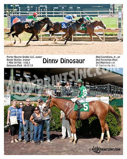 Dinny Dinosaur winning at Delaware Park on 10/2/13