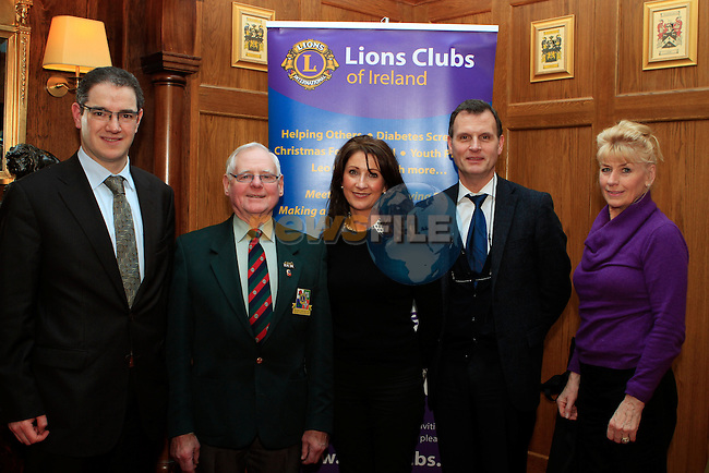 Michael Fitzsimmons, District Governor Joe Smith, Catherine Moore, John Regan and Loretta Whately at the Launch of the Lions Club at  Scholars Townhouse...Photo NEWSFILE/Jenny Matthews..(Photo credit should read Jenny Matthews/NEWSFILE)